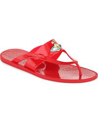 Vivienne Westwood Brand-Embossed Thong Sandals - For Men - Lyst