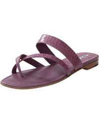 Manolo Blahnik Susa Flat Sandal purple - Lyst