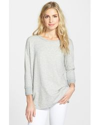 James Perse French Terry Stripe Pullover - Lyst
