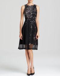 Cynthia Steffe Dress - Cheyenne Sleeveless Print Box Pleat - Lyst