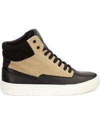 Vince Newman Leather-canvas High-top Sneaker - Lyst