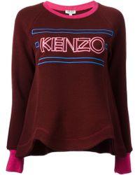 Kenzo Logo Embroidered Sweatshirt - Lyst
