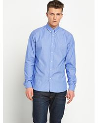 Lacoste Blue Stripe Shirt - Lyst