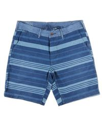 Ralph Lauren Blue Label Blue Striped Short Trousers - Lyst