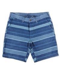 Ralph Lauren Blue Label Blue Striped Short Trousers blue - Lyst