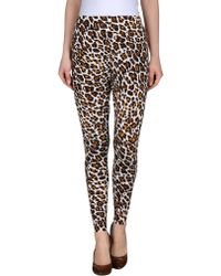 Stella McCartney Leopard Print Jogging Trouser brown - Lyst