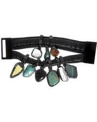 Monies - Crysop Leather Bracelet - Lyst