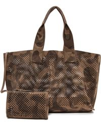 Pedro Garcia Perforated Camo Tote  Olive Camo - Lyst