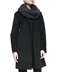 Eileen Fisher Double Face Knee Length Coat - Lyst