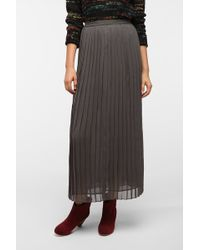 Sparkle & Fade - Pleated Chiffon Maxi Skirt - Lyst