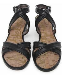 Sam Edelman Tess Low Cross Leather Sandals - Lyst