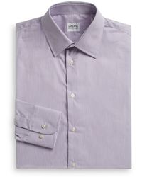 Armani Striped Cotton Dress Shirt - Lyst