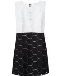 Milly Bi-Colour Shift Dress - Lyst