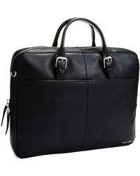 Cole Haan Top Zip Briefcase - Lyst
