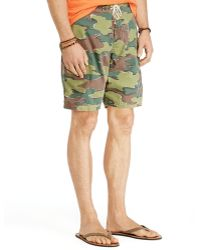 Ralph Lauren Polo Shelter Island Camo Swim Trunks - Lyst