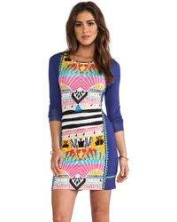 Mara Hoffman Long Sleeve Fitted Mini Dress - Lyst