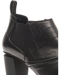 McQ by Alexander McQueen Pointtoe Leather Ankle Boots - Lyst