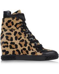 Casadei Hightop Sneakers - Lyst