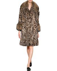Anna Sui Rabbit Fur Coat - Lyst
