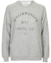 Topshop Williamsburg Sweatshirt By Project Social T gray - Lyst