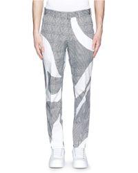 Alexander McQueen Houndstooth Graphic Print Cotton Pants - Lyst