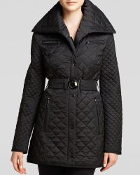Laundry by Shelli Segal Coat - Quilted Shawl Collar - Lyst