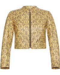 Sonia Rykiel - Collarless Printed Leather Jacket - Lyst