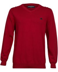 Raging Bull Pima Cotton Vneck Jumper - Lyst