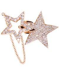 Nikos Koulis - Diamond & Pink-Gold Star Earring - Lyst