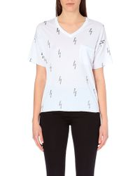 Zoe Karssen Lightning Bolts Jersey T-shirt - Lyst