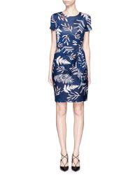 Diane von Furstenberg | 'zoe' Leaf Print Waist Tie Silk Dress | Lyst