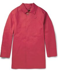 Mackintosh Dunoon Handmade Bonded-Cotton Rain Coat - Lyst