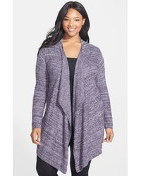 Barefoot Dreams® 'Bamboo Chic' Drape Front Cardigan - Lyst