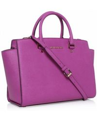Michael Kors Selma Large Satchel Bag - Lyst