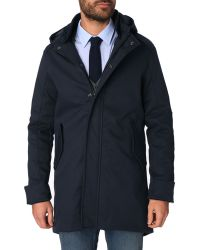 Menlook Label Navy Logan Cotton Parka - Lyst