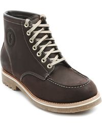 Polo Ralph Lauren Marvin Brown Leather Boots - Lyst