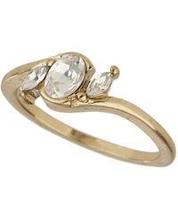 Topshop Premium Black Semi-precious Ring Set - Lyst