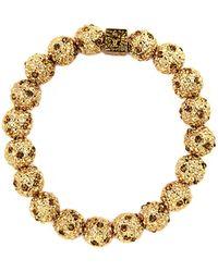 Anne Klein 12 Kt Gold Plated Crystal Cluster Bracelet - Lyst
