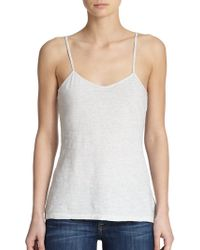 James Perse Cotton Camisole silver - Lyst