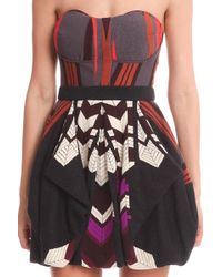 Coven - Strapless Dress - Lyst