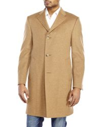 Hickey Freeman Camel Classic Overcoat - Lyst
