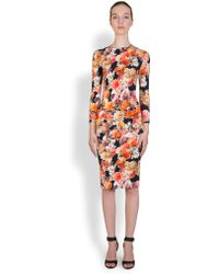 Givenchy Digital-Print Floral Dress - Lyst