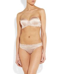 Stella McCartney Clara Whispering Stretch-Silk Strapless Bra - Lyst