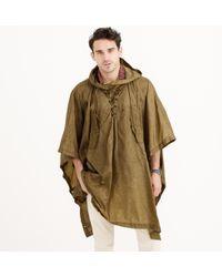J.Crew Wallace & Barnes Hooded Military Rain Poncho khaki - Lyst