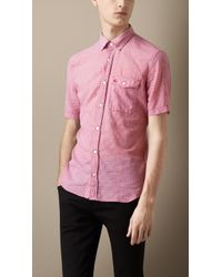 Burberry Lightweight Cotton Gingham Shirt - Lyst