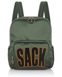 House of Holland - Green Backpack And Sack - Lyst