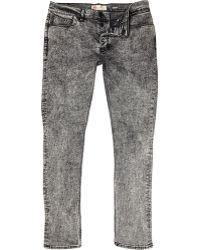 River Island Black Acid Wash Flynn Skinny Jeans - Lyst