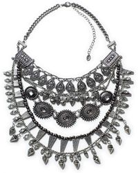 Zara Necklace with Stones and Combination Chains - Lyst