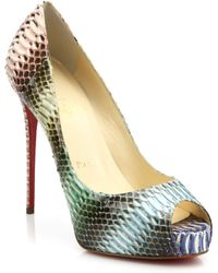 Christian Louboutin Very Prive Waternake Peep-Toe Pumps - Lyst