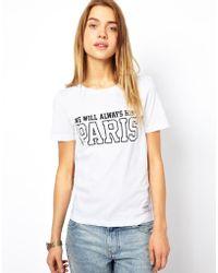 A Question Of - Organic Paris Tshirt - Lyst